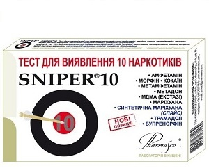 SNIPER 10 test cassette for the simultaneous detection of 10 drugs